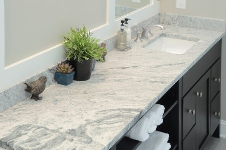Silver Cloud Leathered Granite