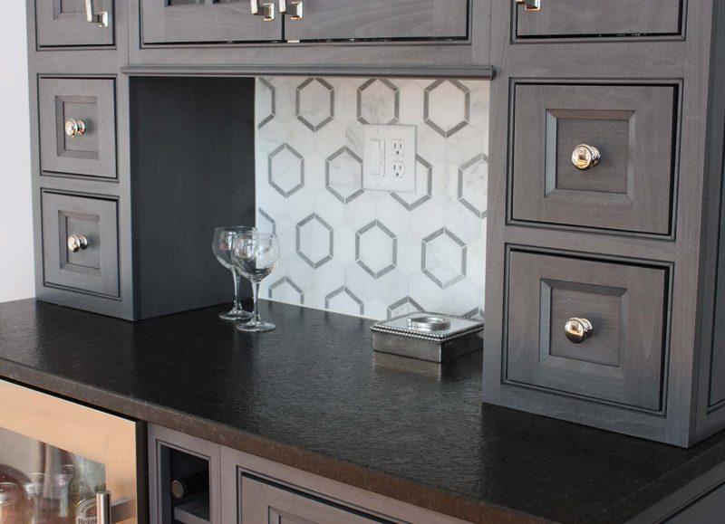 dark counter on dark cabinets